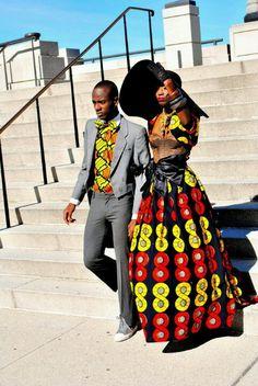 Modern African couple...love