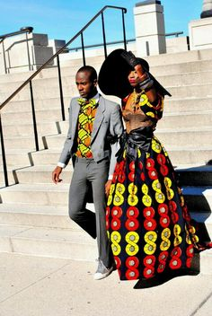 Modern African couple...love