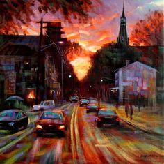 "Saatchi Online Artist Chin h Shin; Painting, ""Lambertville"" #art"