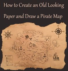 FREE TREASURE MAP PRINTABLE  Great way to teach map skills or kick     How to Create and Draw a Treasure Map  Method to make a paper sheet look
