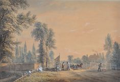 Paul Sandby (1731-1809) • A View of the Bayswater Turnpike • Watercolour • Purchased with the assistance of a special grant from the Government of Victoria 1971 • 1131 #PaulSandby #painting Watercolours, Asian Art, Contemporary Art, Art Gallery, Victoria, Wall, Prints, Painting, Collection