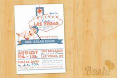 Vintage Vegas Pinup Printable Bachelorette Party Invitation. $15.00, via Etsy.