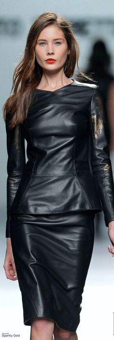 Roberto Torretta F/W 2013 leather dress fashion