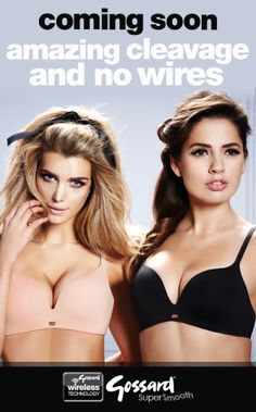 Coming soon to gossard.com - amazing cleavage and no wires. Gossard Super Smooth #WireFreeZone