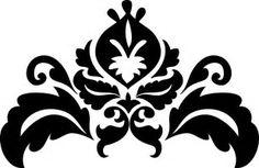 Obraz znaleziony dla: damask stencil printable free
