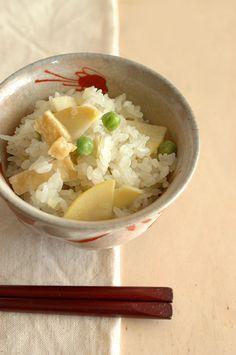 Japanese bamboo shoot rice