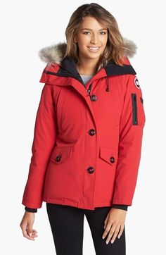 Canada Goose down sale discounts - CANADA GOOSE 'Victoria' Slim Fit Down Parka With Genuine Coyote ...