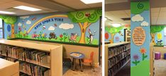 Whimsical and functional design for children's areas of libraries across the U.S.