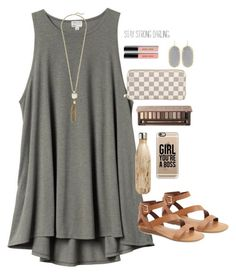 """blah."" by lillianjester ❤ liked on Polyvore featuring H&M, Cole Haan, Franco Sarto, Casetify, Urban Decay, S'well, Louis Vuitton, Bobbi Brown Cosmetics and Kendra Scott"