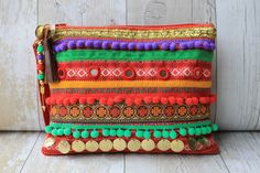 RENIQLO // Handmade Clutch Bag from Vintage textiles Handmade Handbags & Accessories - http://amzn.to/2ij5DXx