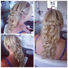 Soft braided sides with GHD curls