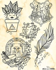 To all my fellow Harry Potter fans, we will be celebrating Harry Potter's birthday on Tuesday July with a Harry Potter flash day – Fashionhome - diy tattoo images Theme Harry Potter, Harry Potter Birthday, Harry Potter Love, Harry Potter Quilt, Hp Tattoo, Tattoo Small, Chest Tattoo, Tattoo Flash, Tattoo Quotes