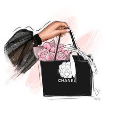 Im drawing illustrations to Fashion Artwork, Fashion Wall Art, Fashion Wallpaper, Estilo Coco Chanel, Desenio Posters, Mode Poster, Chanel Wallpapers, Chanel 19, Megan Hess