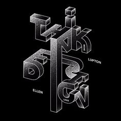 Think more. Design less. @ellenLupton #designquote by @rafagoicoechea #typography #font #graphicdesign by aigadesign