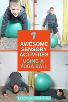 7 Easy Sensory Activities Using a Therapy Ball - Your Kid's Table Learn 7 easy ways to use a therapy ball to give your child a ton of sensory input! Plus, get the scoop on what different types of sensory balls are used for. Proprioceptive Activities, Sensory Activities For Autism, Occupational Therapy Activities, Sensory Therapy, Pediatric Physical Therapy, Infant Activities, Activities For Kids, Physical Activities, Play Therapy Activities