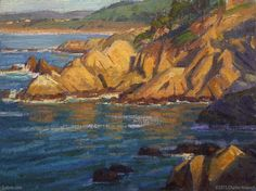 """Pacific Sunset"" by Charles Muench; 9""x12""; Oil on Linen #CaliforniaArt #EnPleinAir #LandscapeArt"