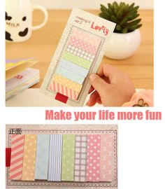 160-Pages-Cute-Sticker-Post-It-Sticky-Notes-Bookmark-Marker-Memo-Flags-Index-Tab