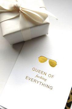 queen of fucking everything , Kort lite