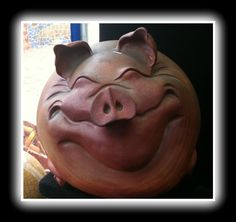 Come visit Zephyr the pig at Stone Leaf Pottery!   Thrown & altered, raku.  Created by Colorado Artist Casey Hankin.