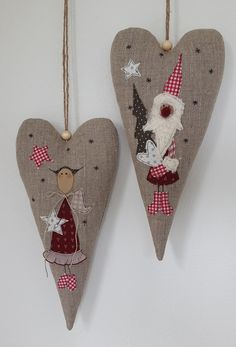 Wohndekoration - XXL Herz Weihnachten Nikolaus Landhaus - ein Designerstück von Feinerlei bei DaWanda