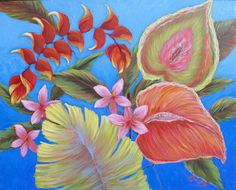Hey, I found this really awesome Etsy listing at http://www.etsy.com/listing/155569057/tropical-art-giclee-print-double-matted