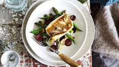 Recipe: Crispy skinned snapper with chorizo, greens and lemon dressing
