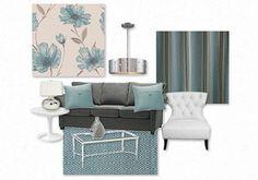 aqua accent living room