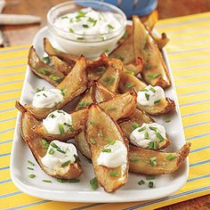 Learn how to make Potato Skins with Sour Cream and Chives. MyRecipes has 70,000+ tested recipes and videos to help you be a better cook