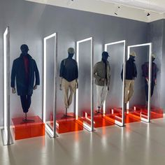 "SLOWEAR SHOWROOM, Corso Sempione, Milan, Italy, ""Take Your Pick - Nick, Edward, Pierre, Sebastian, or George"", photo by Nino Alvarez, pinned by Ton van der Veer"