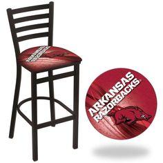 Arkansas Razorbacks D2 Stationary Ladder Back Bar Stool.  Visit SportsFansPlus.com for Details.