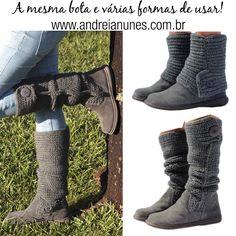 e20893b80 As botas de tricô Andreia Nunes são perfeitas para quem busca estilo e  versatilidade no dia