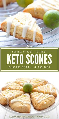 Key lime lovers, this one's for you! These tangy keto key lime scones are a tropical taste sensation.