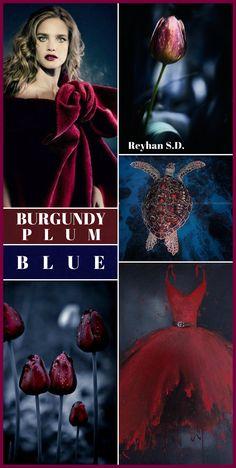 '' Burgundy/ Plum & Blue '' by Reyhan S.D.