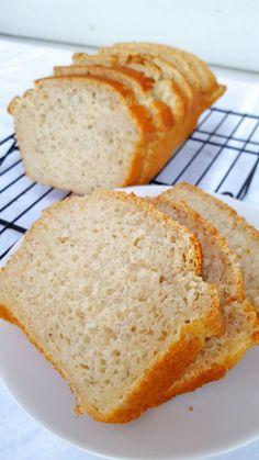 Gluten Free White Bread Xanthan Gum Free ready for a sandwich
