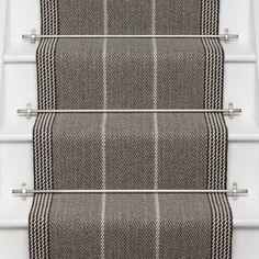 Higherground supply and fit your Roger Oates Swanson Light Grey carpet stair runner - Call us today Carpet Decor, Wall Carpet, Carpet Stairs, Diy Carpet, Carpet Ideas, Carpet Flooring, Beige Carpet, Patterned Carpet, Modern Carpet