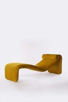 'Djinn' Chaise Longue | Yellow | Olivier Mourgue for Airborne, 1960s
