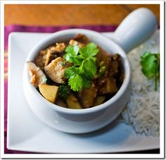 Indian Spiced Eggplant with Potatoes
