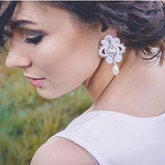 Svatba 2018 - sutaškové svatební náušnice Shibori, Earrings, Jewelry, Fashion, Ear Rings, Moda, Stud Earrings, Jewlery, Jewerly