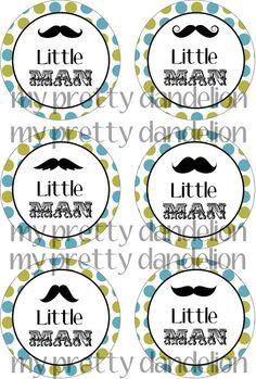 Little Man Mustache Tags 6 by MyPrettyDandelion on Etsy, $3.50