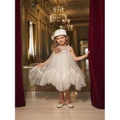 Dolce Bambini βαπτιστικό φόρεμα από φίνο τούλι εκρού επώνυμο-οικονομικό, Βαπτιστικά ρούχα για κορίτσι τιμές-προσφορά, Dolce Bambini βαπτιστικά ρούχα για κορίτσι επώνυμα, Φόρεμα βάπτισης νέες παραλαβές eshop