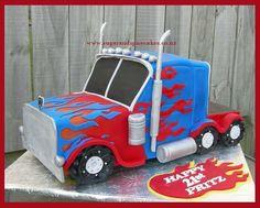 Transformers - Optimus Prime Cake by MelSugarMama