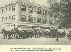Horse teams & wagons going to the Big Hole from Dillon, Mt.