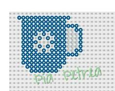 Coffee mug perler pattern by Pia Petrea