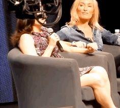 Lana Parrilla and Victoria Smurfit at Calgary Expo 2015