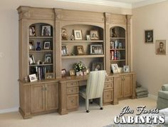 Bed Room Desk / Wall Unit, flip down drawer front over knee space has laptop pullout, texas guy