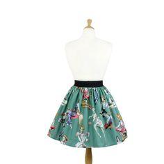 """Lindy"" Zombie Pinups Green Skirt"