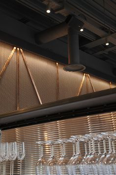 Bibigo, Angel Islington, London | Korean restaurant modern contemporary copper mesh | Central Design Studio