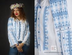 Handmade embroidery - traditional Romanian blouse -  ie traditionala - ie romaneasca - bestickte bluse