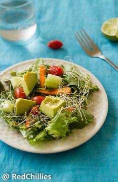 Healthy Alfalfa Sprouts Salad