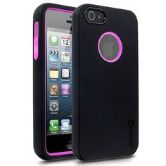 Cellairis Rapture Full Moon Case for Apple iPhone 5 - Black & Hot Pink iPhone 5 Case